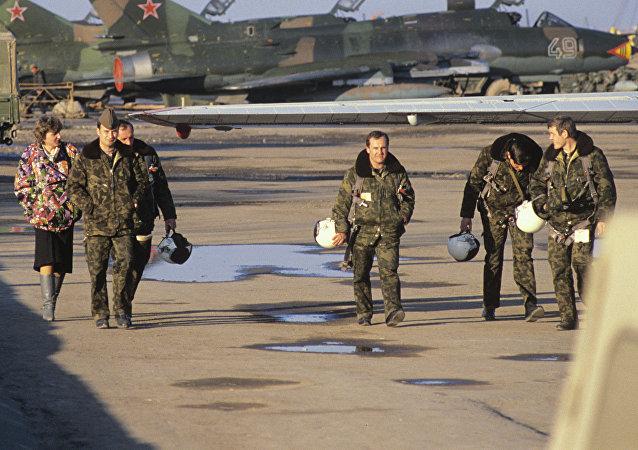 Pilotos militares soviéticos en Afganistán
