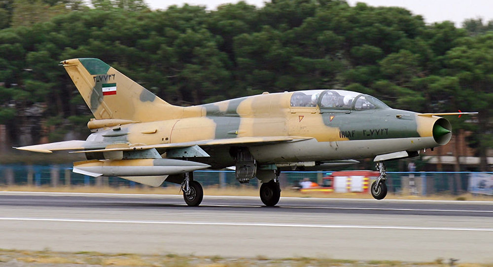 Un F-7 de la Fuerza Aérea de Irán