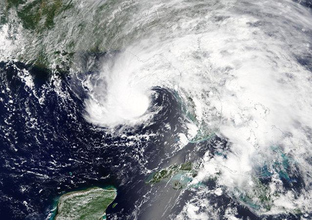 La tormenta Alberto vista desde el espacio
