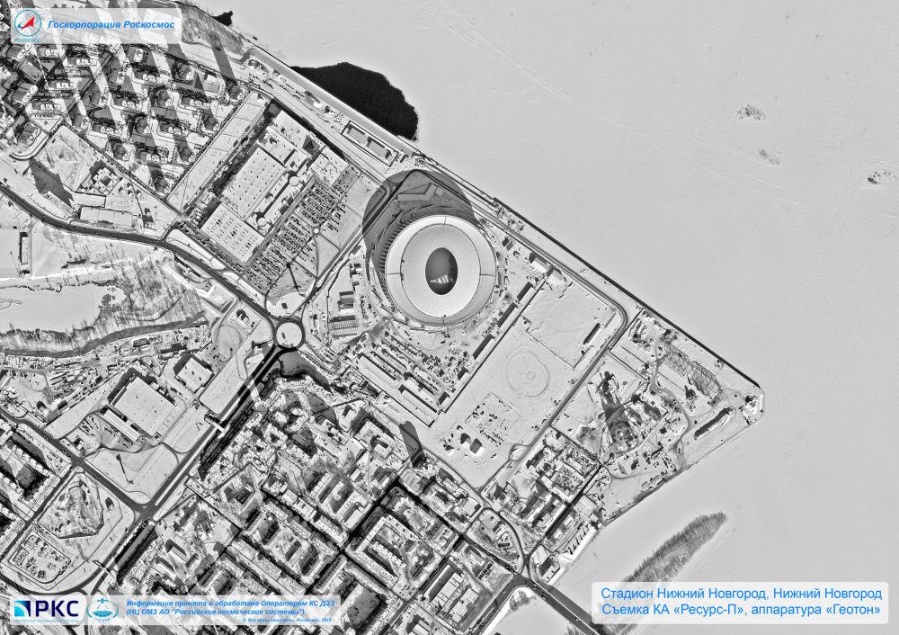 Los estadios del Mundial 2018, vistos desde el espacio