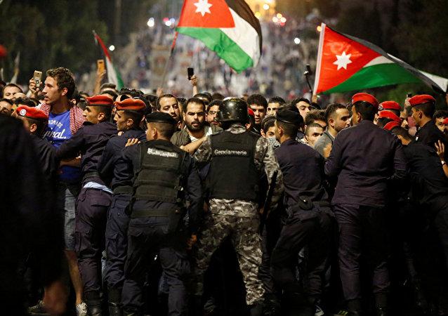 Protestas masivas en Jordania