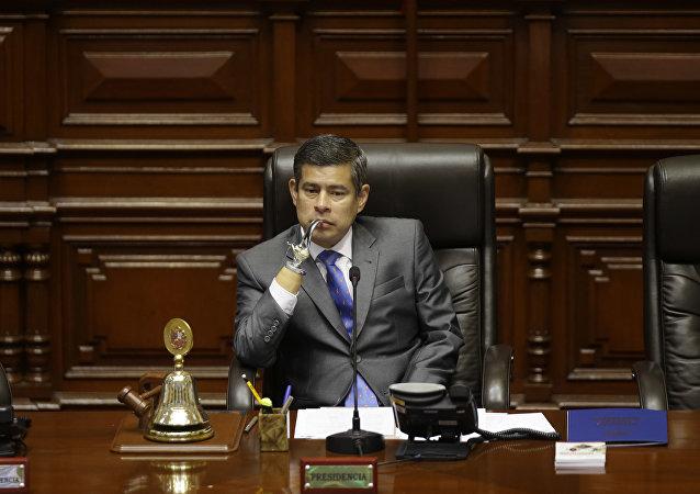Luis Galarreta, presidente del Congreso de Perú