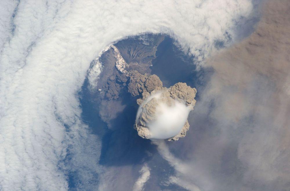 Las erupciones volcánicas, a vista de pájaro