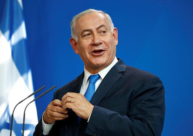Benjamin Netanyahu durante su visita a Berlín