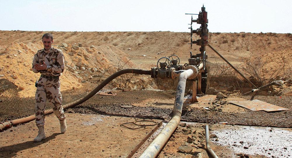 Yacimiento de petróleo en Homs, Siria (archivo)