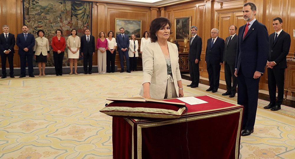 Carmen Calvo, la nueva vicepresidenta española