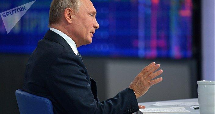 La 16 'Línea directa' con Vladímir Putin (archivo)