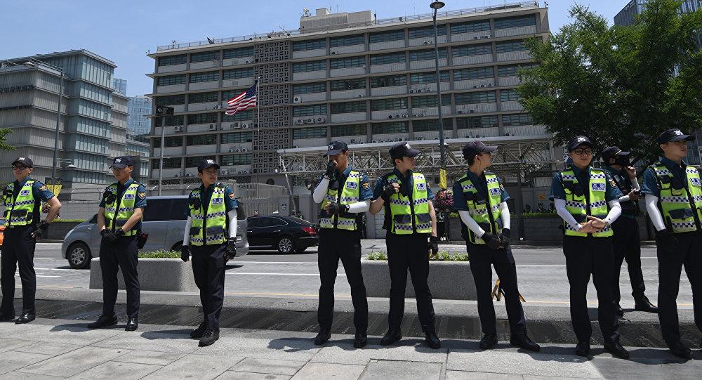 Embajada de Estados Unidos en Seúl, la capital de Corea del Sur (archivo)