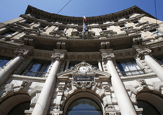 Sede del banco italiano UniCredit en Milán