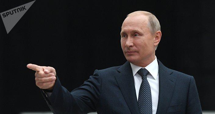 Conferencia de prensa del presidente de Rusia, Vladímir Putin