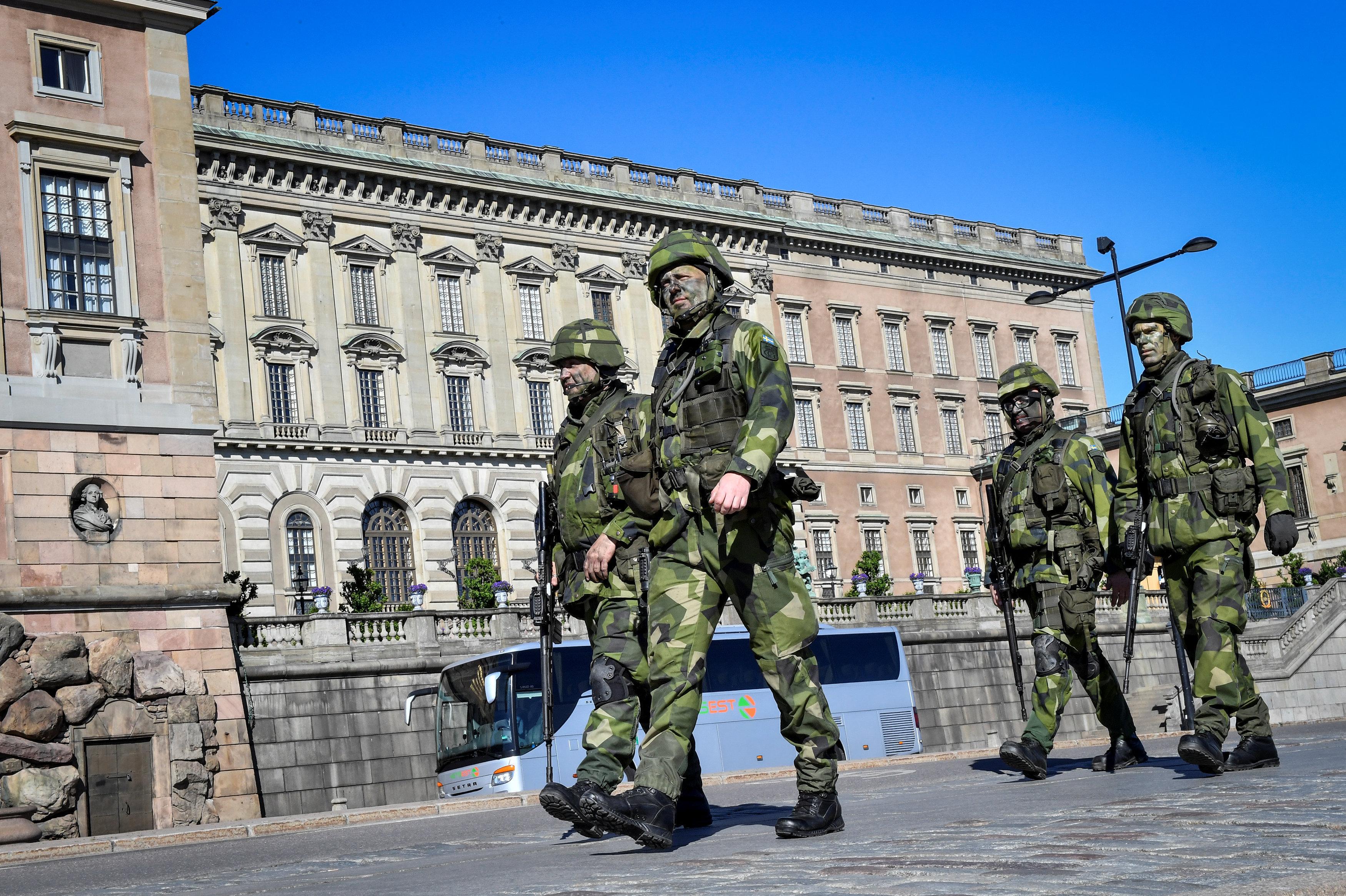 Reservistas suecos en Estocolmo