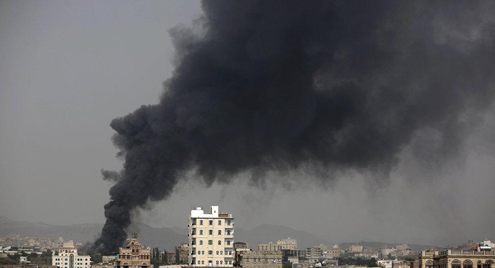 Un ataque de la coalición en Yemen (archivo)