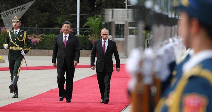 Presidente de China, Xi Jinping, y presidente de Rusia, Vladímir Putin
