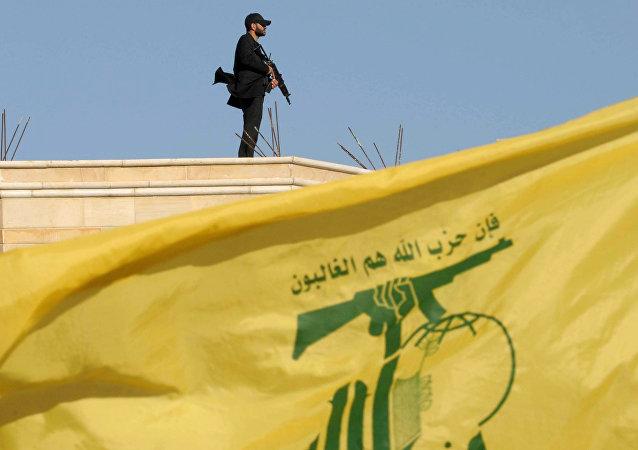 Bandera de Hizbulá (archivo)