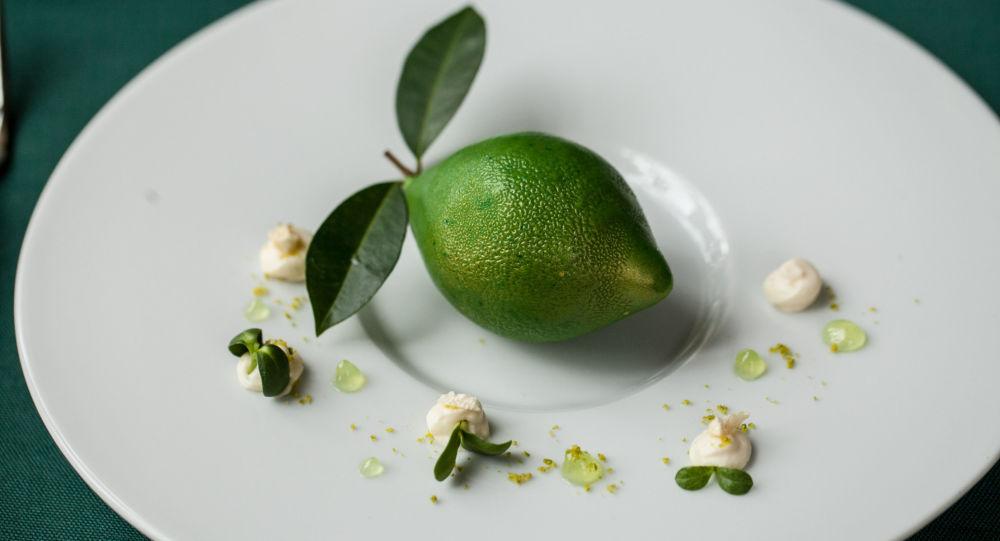 Cidro verde en la cafetería Pushkin