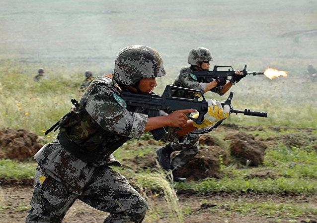 Maniobras antiterroristas de la OCS en Kazajistán (archivo)