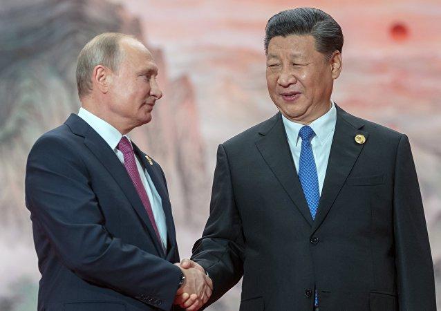 Presidente de Rusia, Vladímir Putin, y presidente de China, Xi Jinping