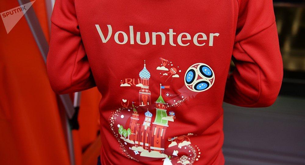 Un voluntario del Mundial de Rusia (archivo)