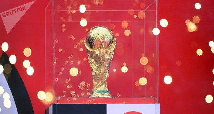 El trofeo del Mundial de FIFA