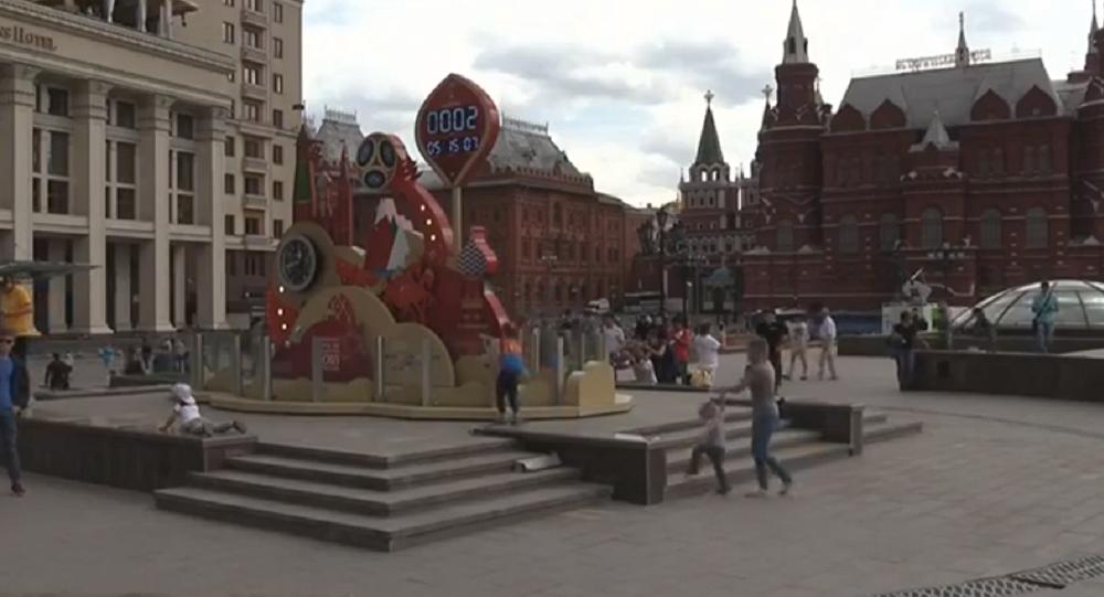 El reloj que lleva la cuenta regresiva al Mundial de Rusia