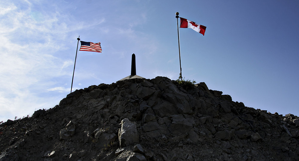 La frontera entre EEUU y Canadá