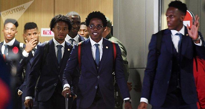 Selección de Colombia arriba a Kazán