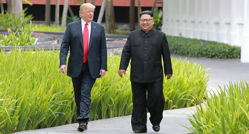 El presidente de EEUU, Donald Trump y el líder norcoreano Kim Jong-un (archivo)