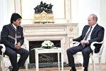 Presidente de Bolivia, Evo Morales y presidente de Rusia, Vladímir Putin