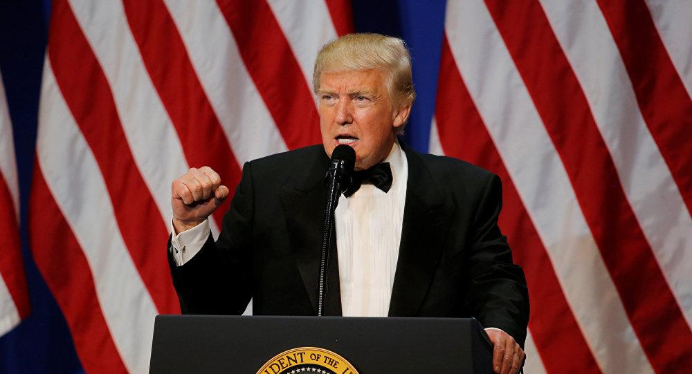El presidente de EEUU, Donald Trump, tras la inauguración (archivo)