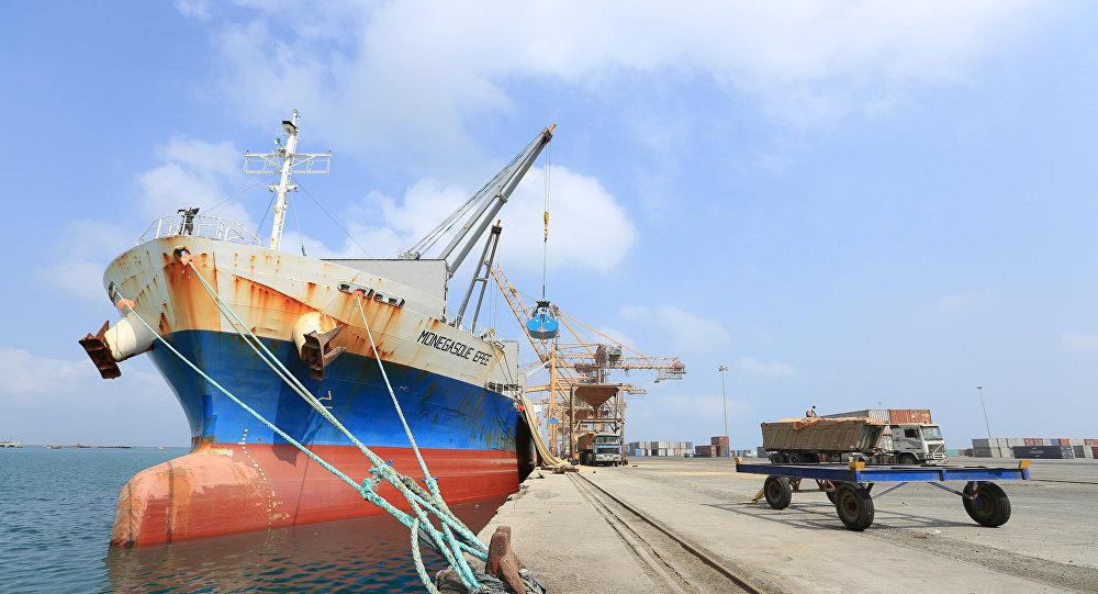 El puerto yemení de Al Hudaida