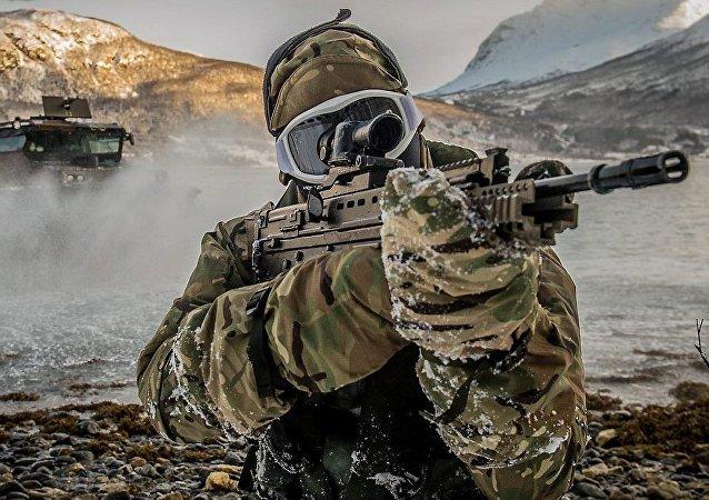 Un marine de la OTAN (archivo)