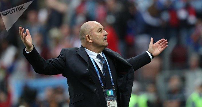 Stanislav Cherchésov, el entrenador de la selección rusa de fútbol