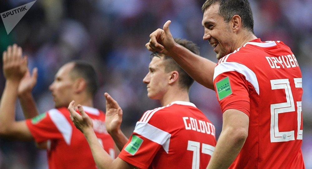 La selección rusa del fútbol (archivo)