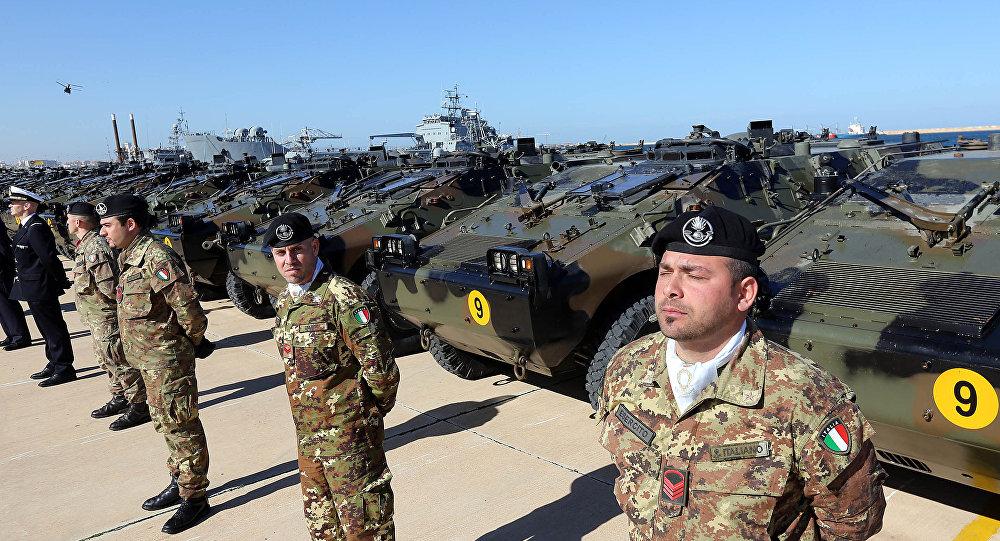 Militares italianos (imagen referencial)