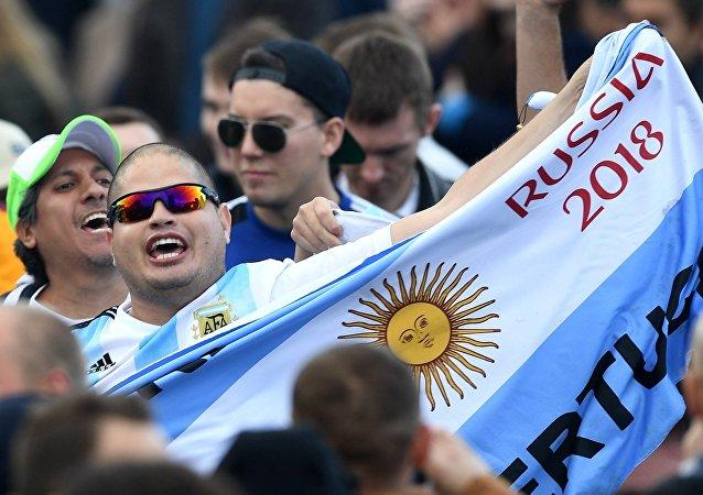 Un hincha argentino durante FIFA Fan Fest 2018