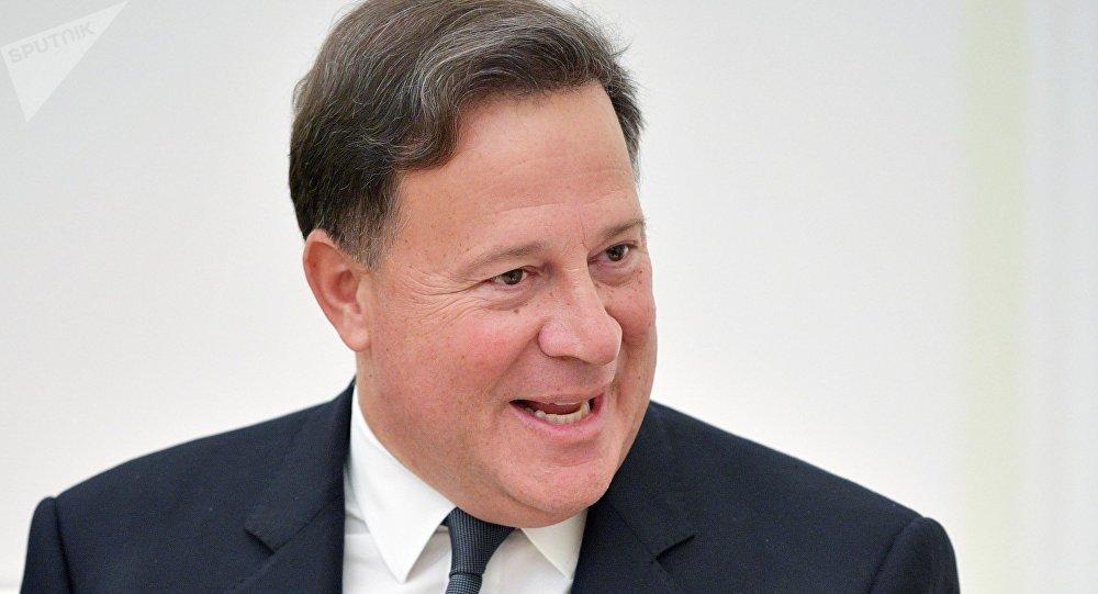 Juan Carlos Varela, el presidente de Panamá durante su visita a Rusia