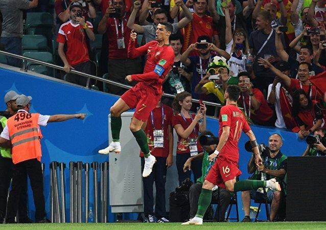 El partido entre España y Portugal en Sochi