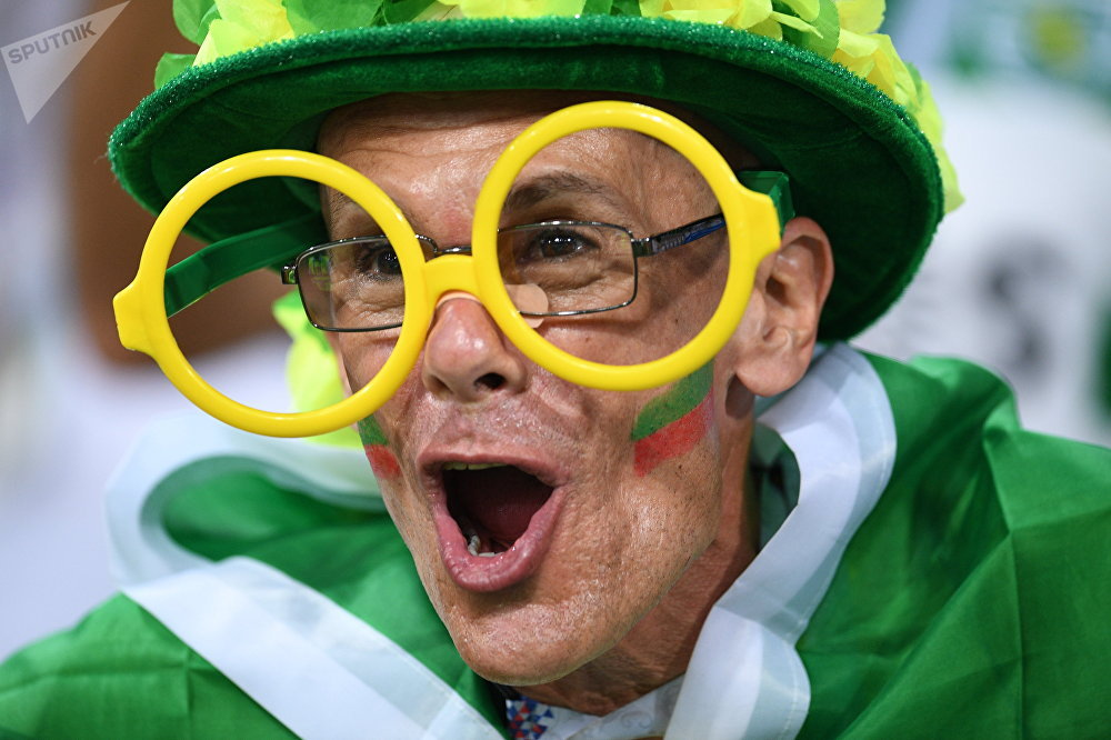 Un aficionado portugués celebra un gol de Cristiano