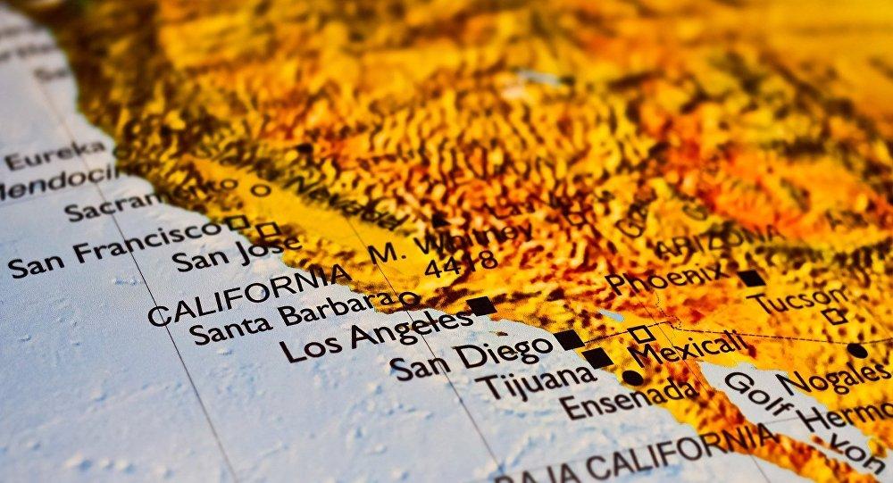 California en el mapa