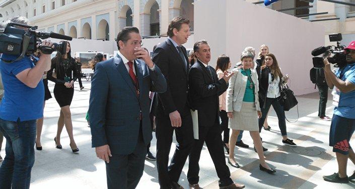 David Espinosa, Nikolái  Guliayev,  Javier Ruiz Galindo y Norma Pensado Moreno