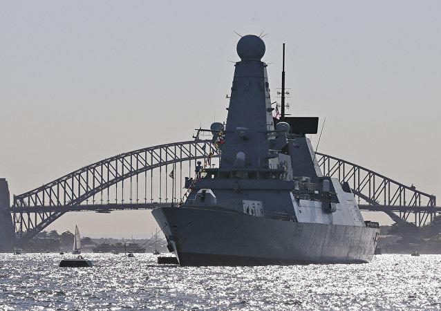 El destructor HMS Daring