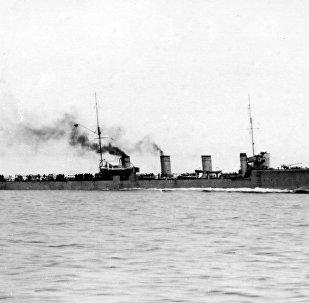El destructor ruso Novík en 1911 (archivo)