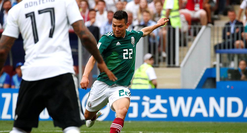 Hirving Lozano, jugador la selección mexicana