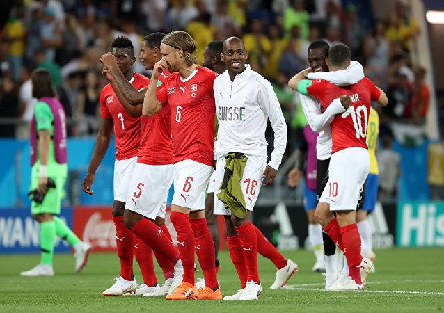 Jugadores del equipo suizo de fútbol