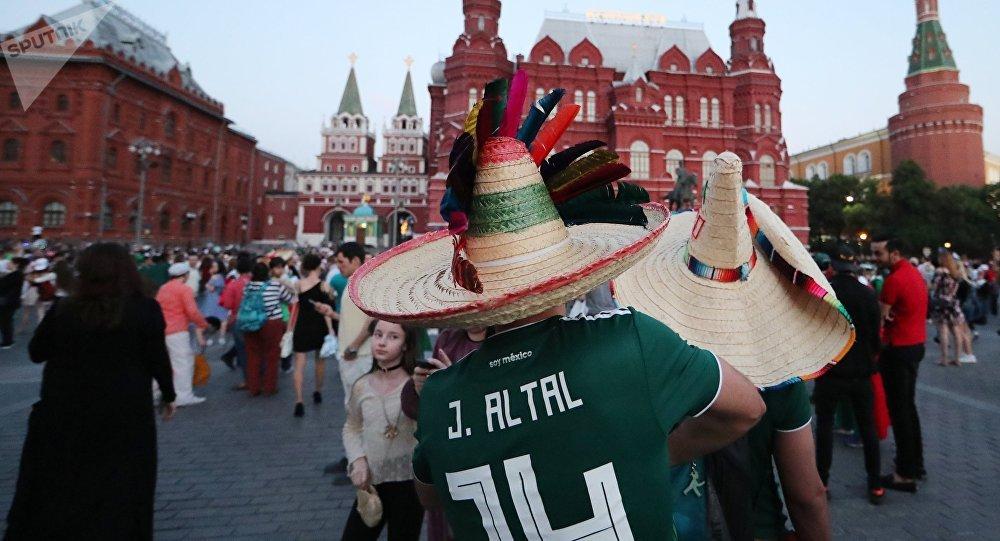 Hinchas mexicanos en el Mundial de Rusia 2018