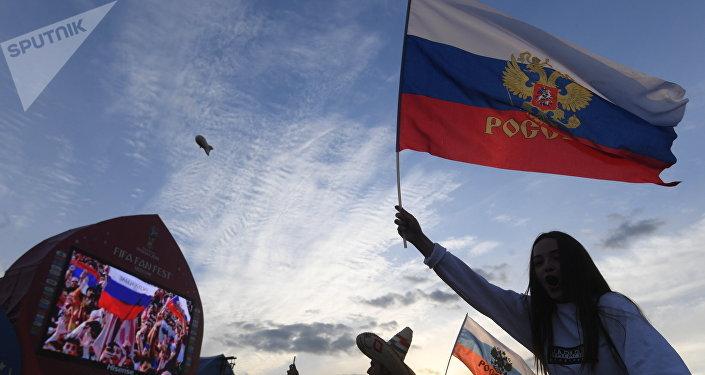 Fan Fest en Vorobiovi Gori, en Moscú