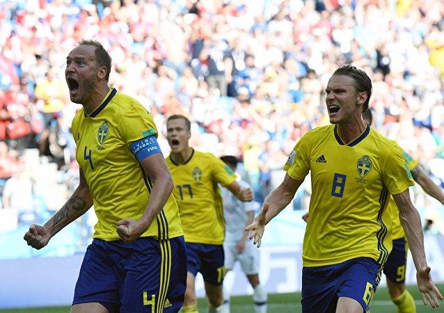 Los jugadores de la selección de Suecia