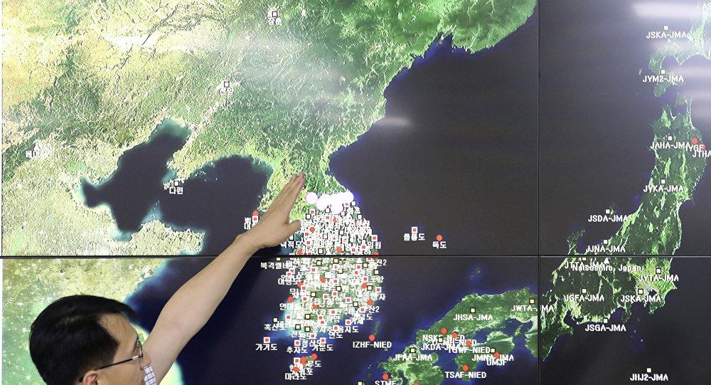 La península coreana en el mapa