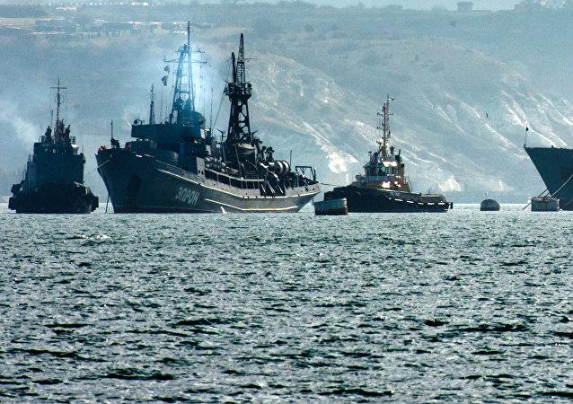 Los buques de la Armada rusa (archivo)