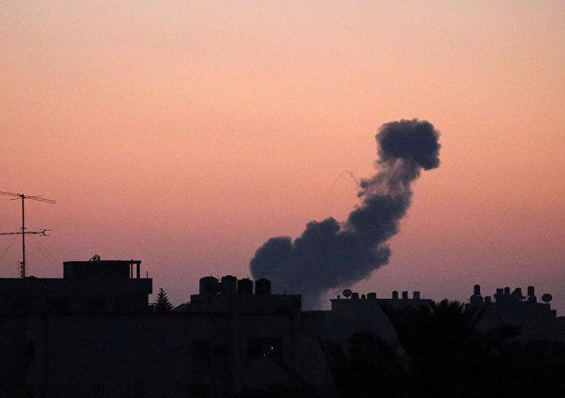Ataque de Israel en Gaza (archivo)